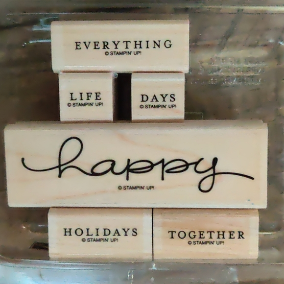 Stampin Up Set of six rubber stamps